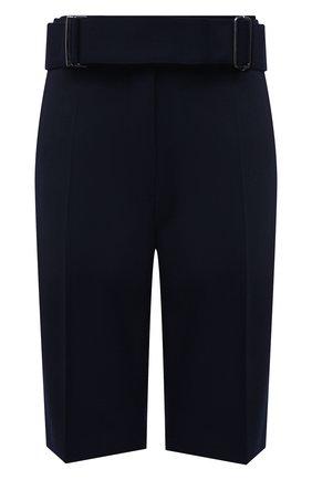 Женские шорты DRIES VAN NOTEN темно-синего цвета, арт. 211-10907-2031 | Фото 1