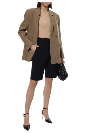 Женские шорты DRIES VAN NOTEN темно-синего цвета, арт. 211-10907-2031 | Фото 2