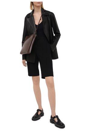 Женские шорты из хлопка и вискозы DRIES VAN NOTEN черного цвета, арт. 211-10906-2109 | Фото 2
