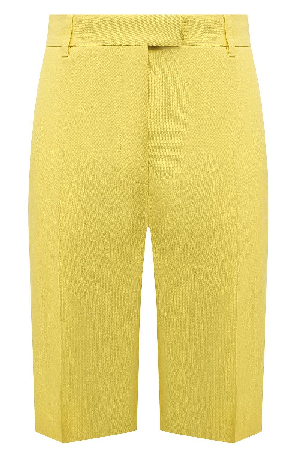 Женские шорты из хлопка и вискозы DRIES VAN NOTEN желтого цвета, арт. 211-10906-2109 | Фото 1