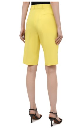 Женские шорты из хлопка и вискозы DRIES VAN NOTEN желтого цвета, арт. 211-10906-2109 | Фото 4