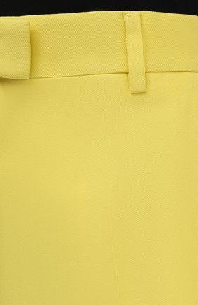 Женские шорты из хлопка и вискозы DRIES VAN NOTEN желтого цвета, арт. 211-10906-2109 | Фото 5