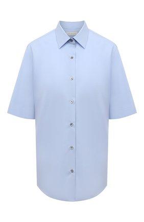 Женская хлопковая рубашка DRIES VAN NOTEN голубого цвета, арт. 211-10781-2228 | Фото 1