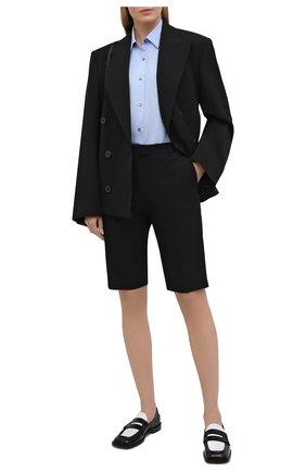 Женская хлопковая рубашка DRIES VAN NOTEN голубого цвета, арт. 211-10781-2228 | Фото 2