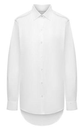 Женская хлопковая рубашка DRIES VAN NOTEN белого цвета, арт. 211-10771-2166 | Фото 1