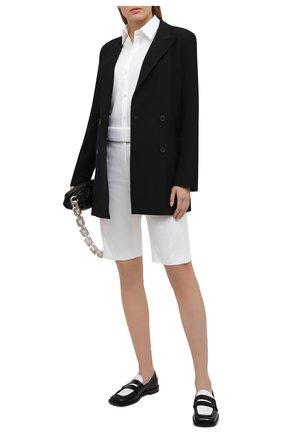 Женская хлопковая рубашка DRIES VAN NOTEN белого цвета, арт. 211-10771-2166 | Фото 2