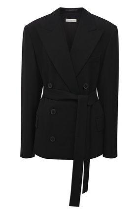 Женский двубортный жакет DRIES VAN NOTEN черного цвета, арт. 211-10402-2031 | Фото 1