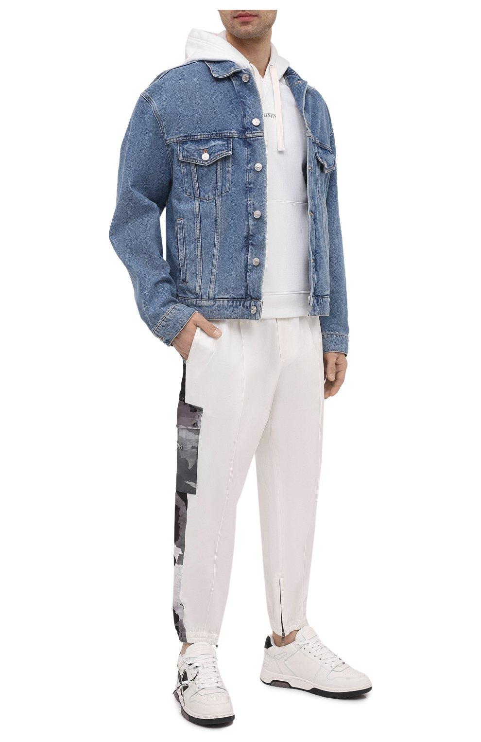 Мужские кожаные кеды out of office OFF-WHITE белого цвета, арт. 0MIA189R21LEA0010110 | Фото 2 (Материал внутренний: Текстиль; Подошва: Массивная)