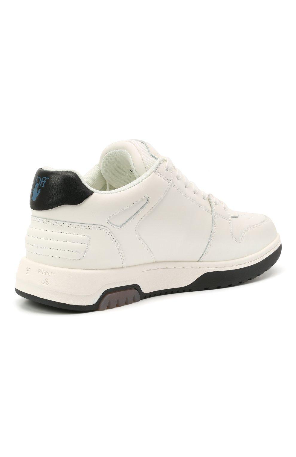 Мужские кожаные кеды out of office OFF-WHITE белого цвета, арт. 0MIA189R21LEA0010110 | Фото 4 (Материал внутренний: Текстиль; Подошва: Массивная)