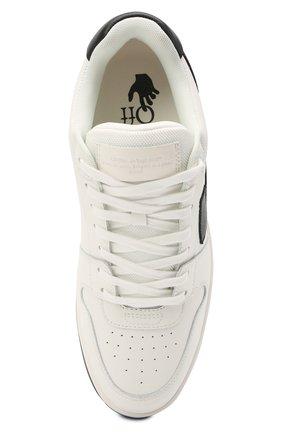 Мужские кожаные кеды out of office OFF-WHITE белого цвета, арт. 0MIA189R21LEA0010110 | Фото 5 (Материал внутренний: Текстиль; Подошва: Массивная)