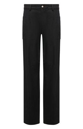 Мужские брюки из хлопка и вискозы DRIES VAN NOTEN черного цвета, арт. 211-20909-2109 | Фото 1