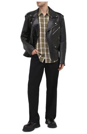 Мужские брюки из хлопка и вискозы DRIES VAN NOTEN черного цвета, арт. 211-20909-2109 | Фото 2