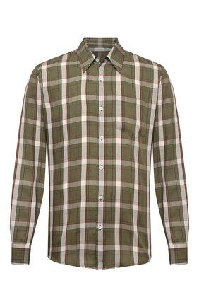 Мужская рубашка DRIES VAN NOTEN хаки цвета, арт. 211-20746-2307   Фото 1