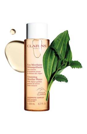 Женского мицеллярная вода для чувствительной кожи CLARINS бесцветного цвета, арт. 80062047 | Фото 2