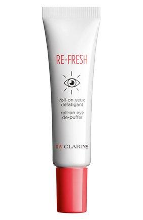 Женского освежающий гель для кожи вокруг глаз с роликовым аппликатором CLARINS бесцветного цвета, арт. 80072839 | Фото 1