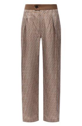 Женские шелковые брюки CHLOÉ коричневого цвета, арт. CHC21SPA88350 | Фото 1