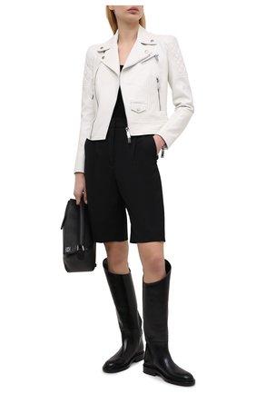 Женская кожаная куртка DSQUARED2 белого цвета, арт. S75AM0841/SY1491 | Фото 2