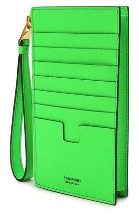 Женский кожаный футляр для кредитный карт TOM FORD зеленого цвета, арт. S0336T-LCL143 | Фото 2 (Материал: Кожа)