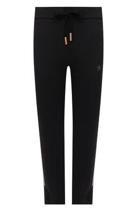 Женские хлопковые брюки LORENA ANTONIAZZI черного цвета, арт. P2141PA109/3187 | Фото 1