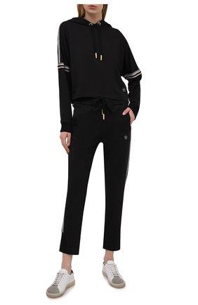 Женские хлопковые брюки LORENA ANTONIAZZI черного цвета, арт. P2141PA109/3187 | Фото 2