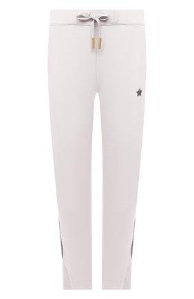 Женские хлопковые брюки LORENA ANTONIAZZI светло-серого цвета, арт. P2141PA109/3187 | Фото 1