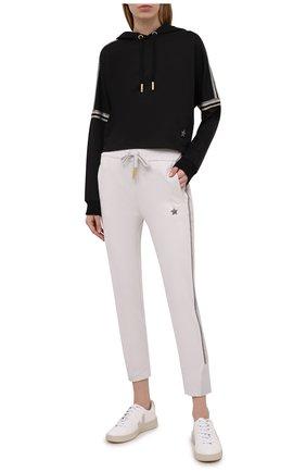 Женские хлопковые брюки LORENA ANTONIAZZI светло-серого цвета, арт. P2141PA109/3187 | Фото 2