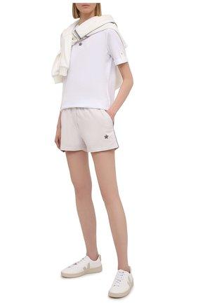 Женские хлопковые шорты LORENA ANTONIAZZI светло-серого цвета, арт. P2141PA108/3187 | Фото 2
