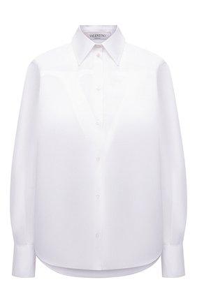 Женская хлопковая рубашка VALENTINO белого цвета, арт. VB3AB1Z05DN | Фото 1