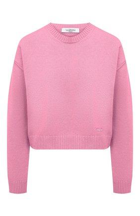 Женский кашемировый пуловер VALENTINO розового цвета, арт. VB0KCC156CK   Фото 1