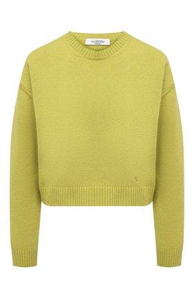 Женский кашемировый пуловер VALENTINO зеленого цвета, арт. VB0KCC156CK | Фото 1