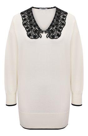 Женский хлопковый пуловер VIVETTA белого цвета, арт. 21E V2M0/A015/7633 | Фото 1