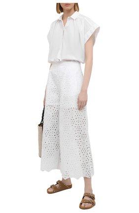 Женские брюки VIVETTA белого цвета, арт. 21E V2M0/B051/0082 | Фото 2