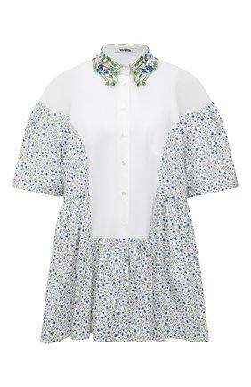 Женская хлопковая рубашка VIVETTA голубого цвета, арт. 21E V2M0/G011/0101 | Фото 1