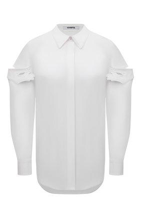 Женская хлопковая рубашка VIVETTA белого цвета, арт. 21E V2M0/G041/0650 | Фото 1