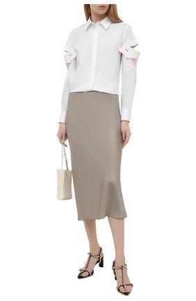 Женская хлопковая рубашка VIVETTA белого цвета, арт. 21E V2M0/G041/0650 | Фото 2