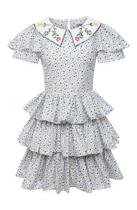 Женское хлопковое платье VIVETTA голубого цвета, арт. 21E V2M0/H041/0101 | Фото 1