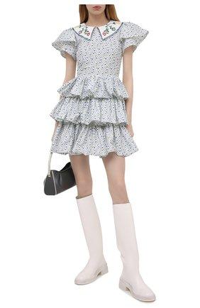 Женское хлопковое платье VIVETTA голубого цвета, арт. 21E V2M0/H041/0101 | Фото 2