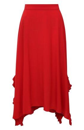 Женская шелковая юбка STELLA MCCARTNEY красного цвета, арт. 602927/SY206 | Фото 1