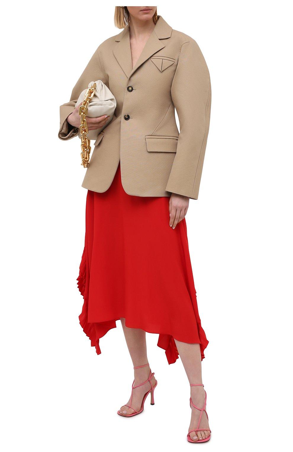 Женская шелковая юбка STELLA MCCARTNEY красного цвета, арт. 602927/SY206   Фото 2