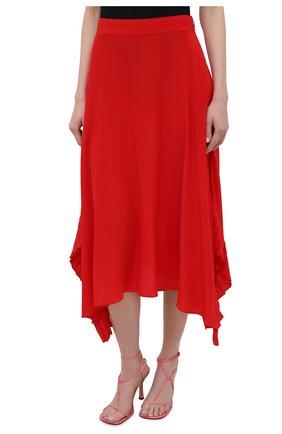 Женская шелковая юбка STELLA MCCARTNEY красного цвета, арт. 602927/SY206   Фото 3