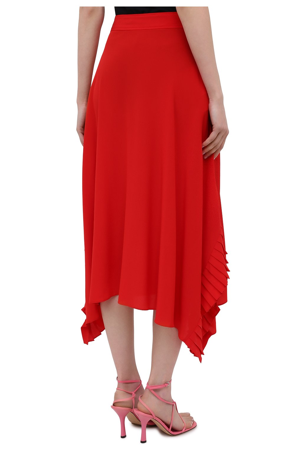 Женская шелковая юбка STELLA MCCARTNEY красного цвета, арт. 602927/SY206   Фото 4