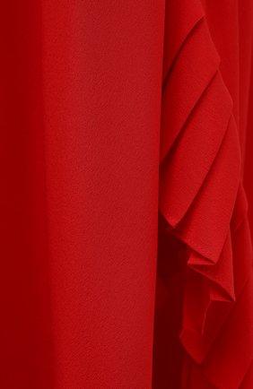 Женская шелковая юбка STELLA MCCARTNEY красного цвета, арт. 602927/SY206   Фото 5