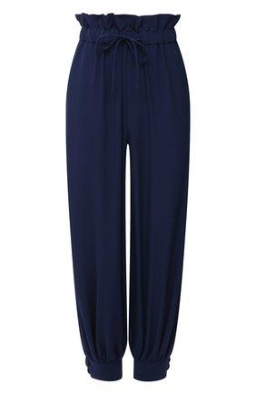 Женские шелковые брюки STELLA MCCARTNEY синего цвета, арт. 602917/SY206 | Фото 1