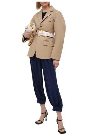Женские шелковые брюки STELLA MCCARTNEY синего цвета, арт. 602917/SY206 | Фото 2