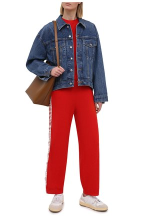 Женские шерстяные брюки STELLA MCCARTNEY красного цвета, арт. 581719/S2235 | Фото 2