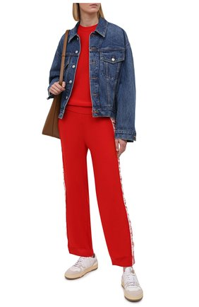 Женский шерстяной пуловер STELLA MCCARTNEY красного цвета, арт. 575384/S2235 | Фото 2