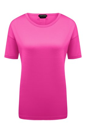 Женская шелковая футболка TOM FORD розового цвета, арт. TSJ383-FAX835 | Фото 1
