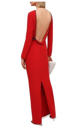 Женское шелковое платье TOM FORD красного цвета, арт. AB2999-FAX230 | Фото 2