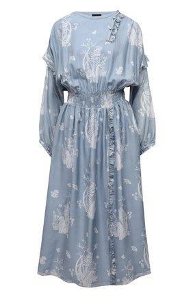 Женское шелковое платье GIORGIO ARMANI голубого цвета, арт. 1SHVA07P/T02AY | Фото 1