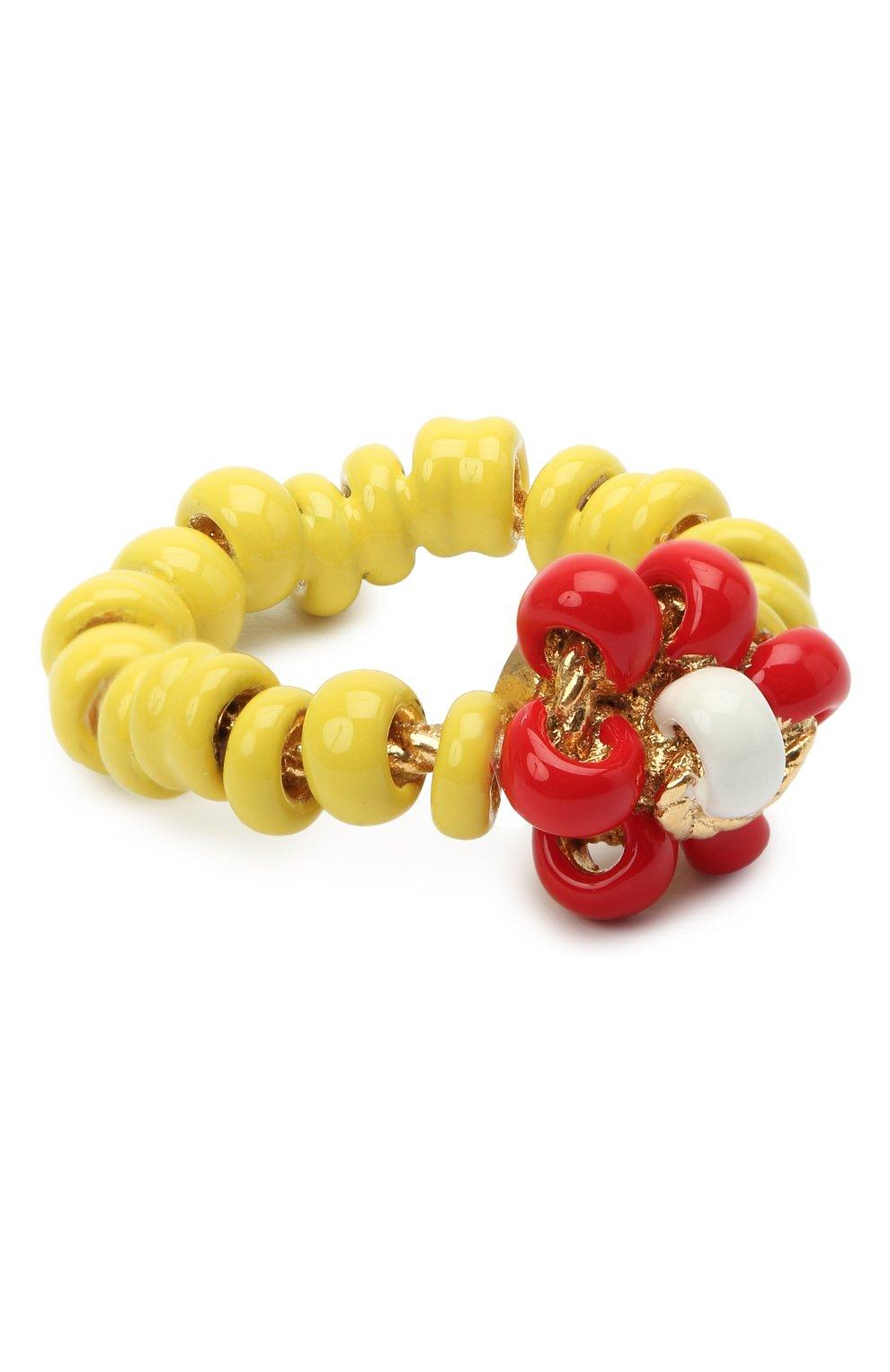 Женское кольцо BOTTEGA VENETA желтого цвета, арт. 649317/VAHU4   Фото 1